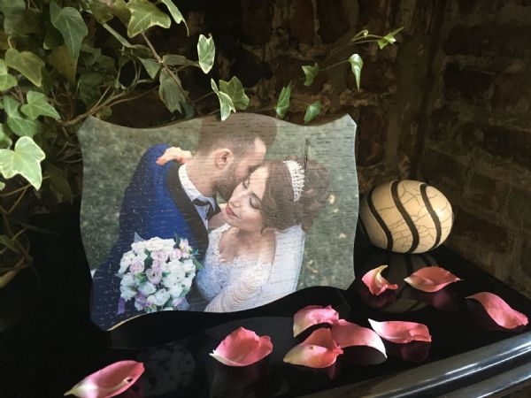Wooden Photo Plaque, Pillow